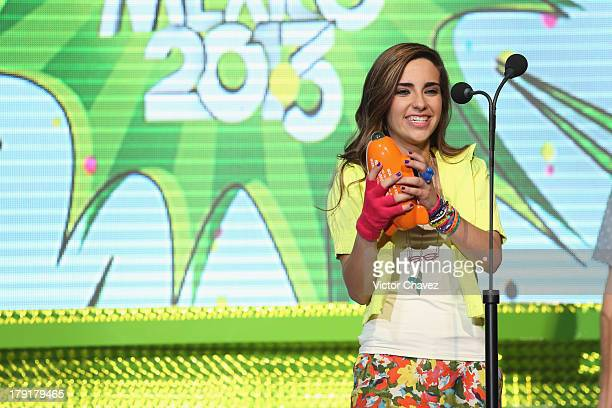 Fernanda Urdapilleta speaks on stage during the Kids Choice Awards Mexico 2013 at Pepsi Center WTC on August 31, 2013 in Mexico City, Mexico.