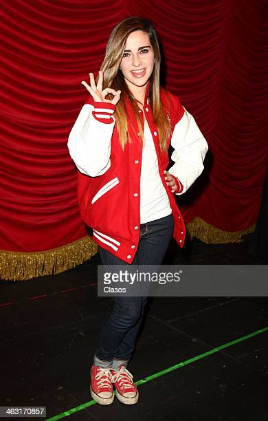 Fernanda Urfdapilleta poses for a photo during a press conference to present the musical La CQ at Centro Cultural Telmex on January 16 2013 in Mexico...