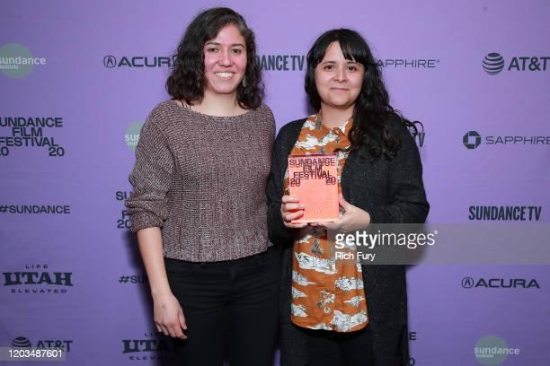 Fernanda Valadez and Astrid Rondero pose backstage during the 2020 Sundance Film Festival Awards Night Ceremony at Basin Recreation Field House on...