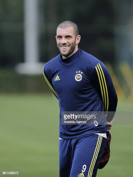 Fernandao of Fenerbahce attends a training session ahead of the 2nd half of Turkish Super Lig at Belek Tourism Center in Serik district of Antalya...