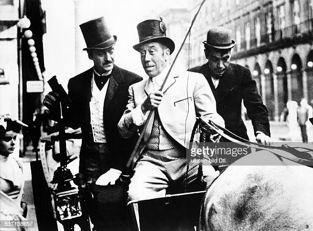 Fernandel Actor singer France Scene from the movie 'Around the World in Eighty Days'' with David Niven Directed by Michael Anderson USA 1956 Vintage...