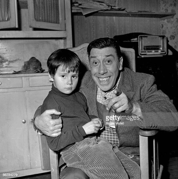 Fernandel And The Little Papouf During The Shooting Of The Henri