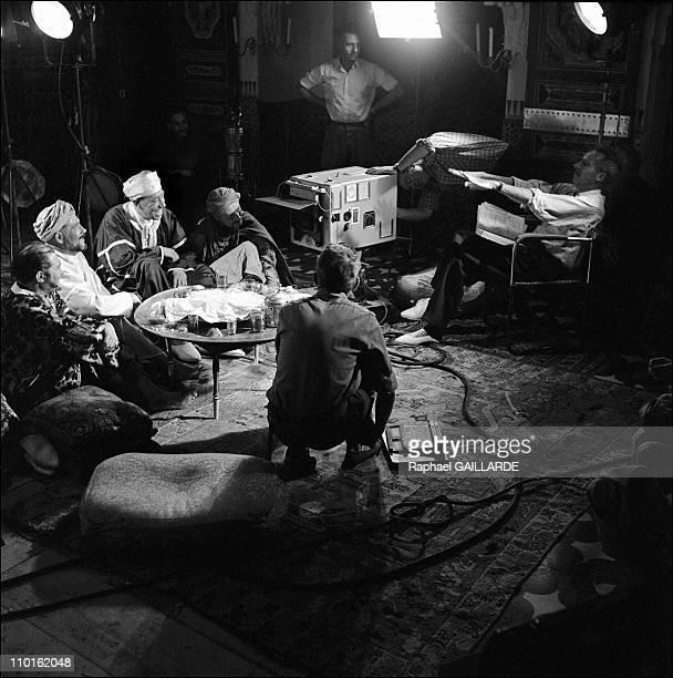 Fernandel on the set of 'AliBaba et les Quarante Voleurs' in France
