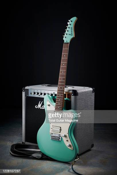 A Fernandes JG40 electric guitar and Marshall combo amplifier taken on October 23 2019