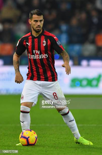 Fernandez Saenz Jesus Joaquin Suso of AC Milan in action during the Serie A match between Udinese and AC Milan at Stadio Friuli on November 4 2018 in...