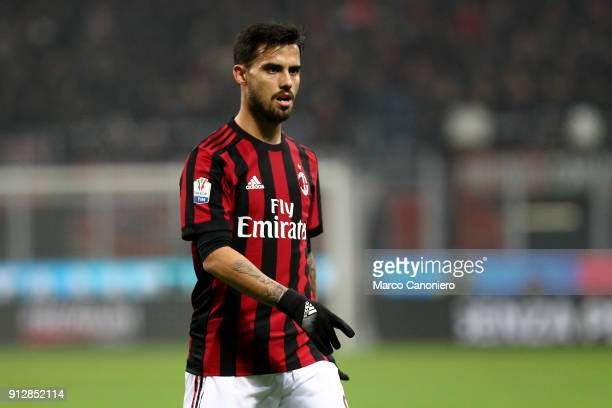 Fernandez Suso of Ac Milan during the Tim Cup football match between AC Milan and SS Lazio The match end in a tie 00