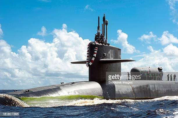 Fernandina Beach, Florida, July 15, 2012 - The Ohio-class guided missile submarine USS Georgia (SSGN 729) transits the Saint Marys River.