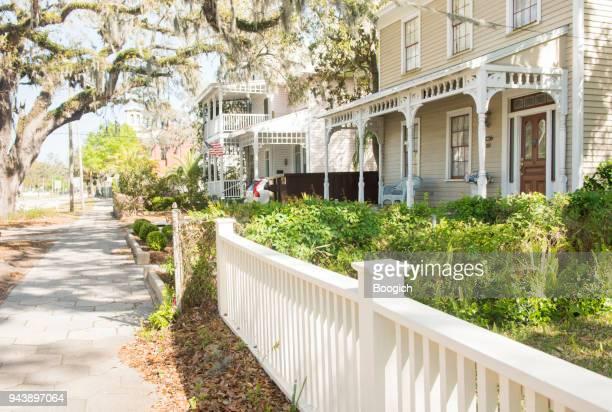Fernandina Beach Historic Neighborhood Homes in Small Town America