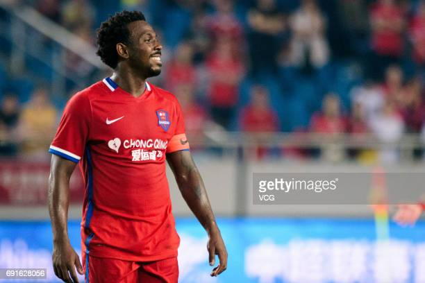 Fernandinho of Chongqing Lifan in action during the 12th round match of 2017 Chinese Football Association Super League between Chongqing Lifan and...