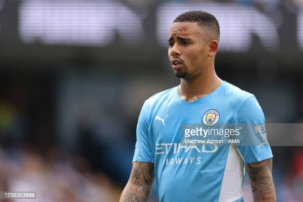 Fernandinho of Manchester City during the Premier League match between Manchester City and Southampton at Etihad Stadium on September 18, 2021 in...