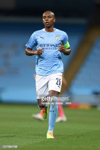 Fernandinho of Manchester City during the UEFA Champions League round of 16 second leg match between Manchester City and Real Madrid at Etihad...