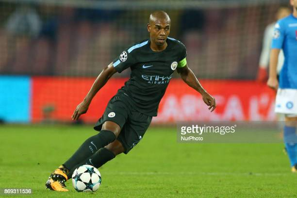 Fernandinho of Manchester City during the UEFA Champions League football match Napoli vs Manchester City on November 1 2017 at the San Paolo stadium...