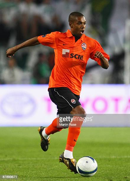 Fernandinho of Shakhtar Donetsk in action during the UEFA Cup Final between Shakhtar Donetsk and Werder Bremen at the Sukru Saracoglu Stadium on May...