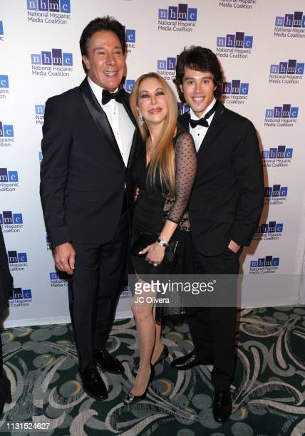 Fernando Allende Mari Allende and Adam Allende attend the 22nd Annual National Hispanic Media Coalition Impact Awards Gala at Regent Beverly Wilshire...