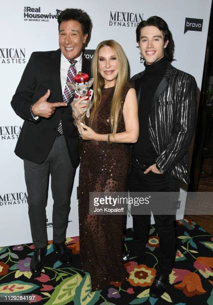 Fernando Allende Mari Allende and Adan Allende attend Bravo's Premiere Party For The Real Housewives Of Beverly Hills Season 9 And Mexican...