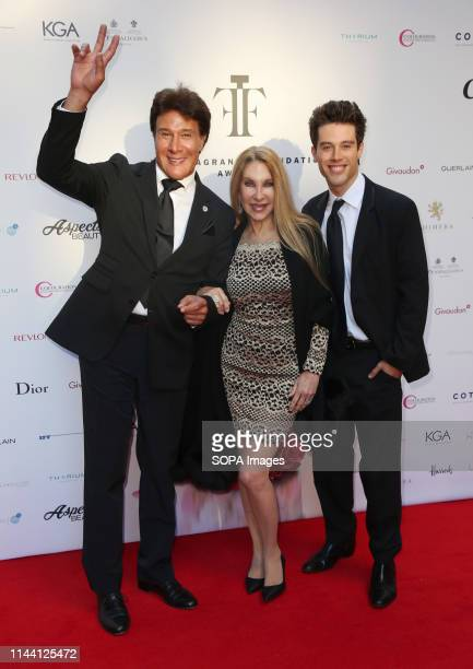 Fernando Allende Mari Allende and Adan Allende attending the Fragrance Foundation Awards 2019 at The Brewery in London