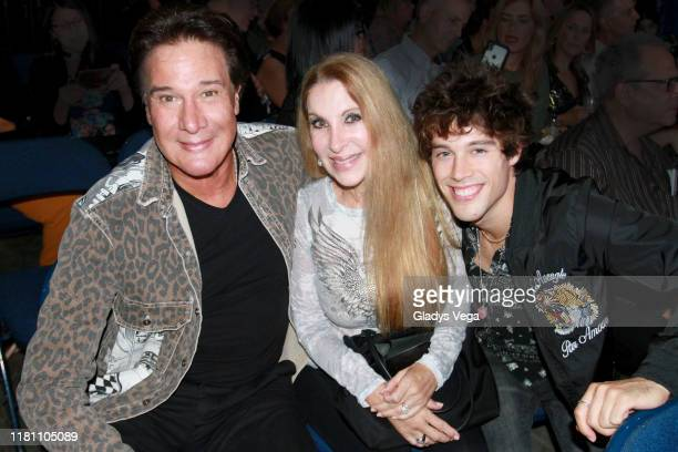 Fernando Allende with his wife Mari Mediavilla and their son Adan Allende attend Raphael Concert at Coliseo Jose M Agrelot on October 12 2019 in San...
