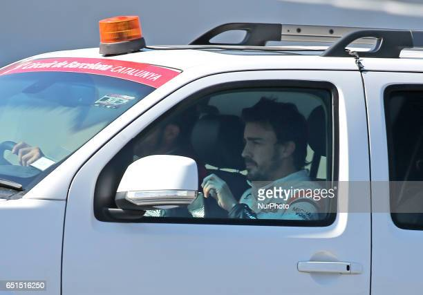 Fernando Alonso after a new problems with his McLaren during the Formula 1 tests held in the BarcelonaCatalunya Circuit on march 10 2017