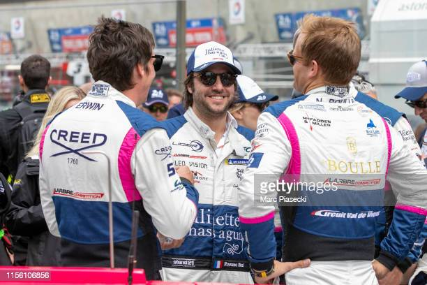 Fernando Alonso attends the 24 Hours of Le Mans race on June 15, 2019 in Le Mans, France.