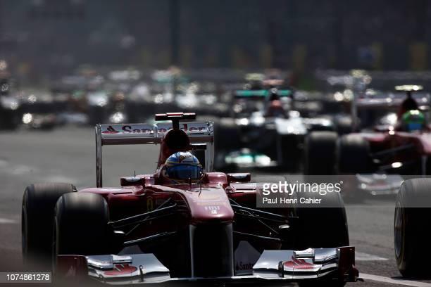 Fernando Alonso, Ferrari 150° Italia, Grand Prix of Italy, Autodromo Nazionale Monza, 11 September 2011. Fernando Alonso takes the lead at the start...