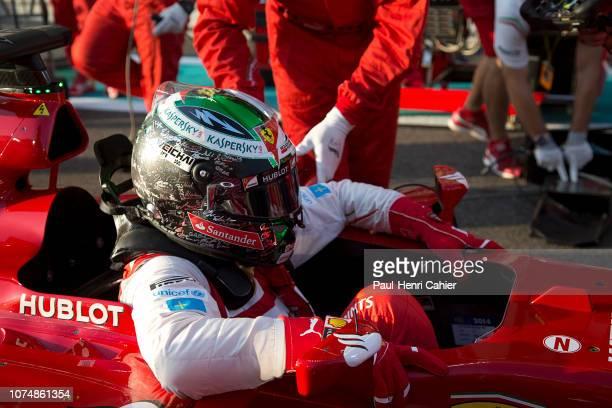 Fernando Alonso, Ferrari F14 T, Grand Prix of Abu Dhabi, Yas Marina Circuit, 23 November 2014. Fernando Alonso on the starting grid of the 2014 Abu...