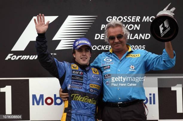 Fernando Alonso Flavio Briatore Grand Prix of Germany Hockenheimring 24 July 2005 Fernando Alonso with his manager Renault team manager Flavio...