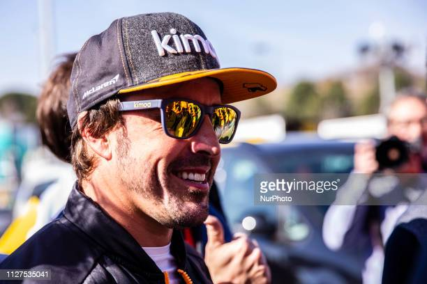 Fernando Alonso fom Spain of Mclaren F1 Team - Renault MCL34 portrait during the Formula 1 2019 Pre-Season Tests at Circuit de Barcelona - Catalunya...
