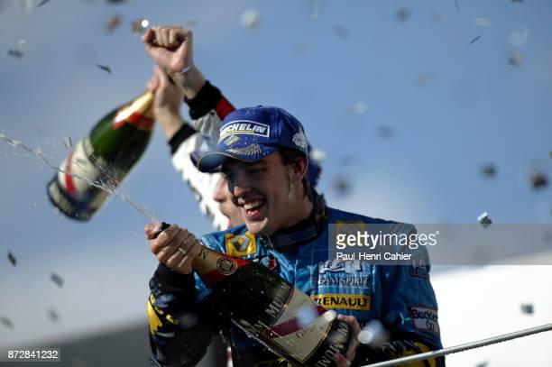 Fernando Alonso Grand Prix of Brazil Autodromo Jose Carlos Pace Interlagos Sao Paolo 22 October 2006 Fernando Alonso celebrates his second successive...