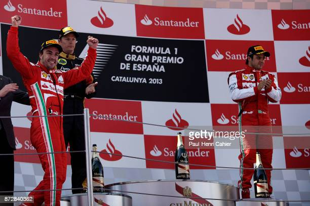 Fernando Alonso Kimi Raikkonen Felipe Massa Grand Prix of Spain Circuit de BarcelonaCatalunya 12 May 2013
