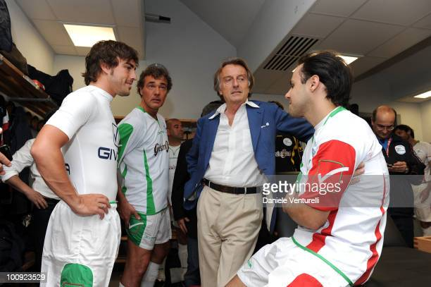 ACCESS** Fernando Alonso Massimo Giletti Luca Cordero di Montezemolo and Felipe Massa attend the XIX Partita Del Cuore charity football game at on...