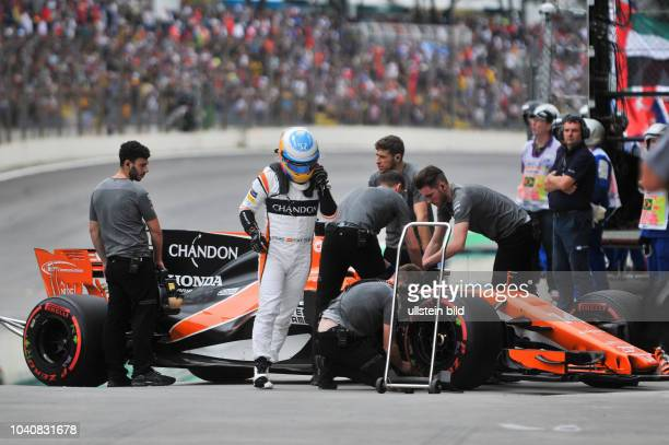 Fernando Alonso McLaren Honda formula 1 GP Brasilien in Sao Paulo/Interlagos