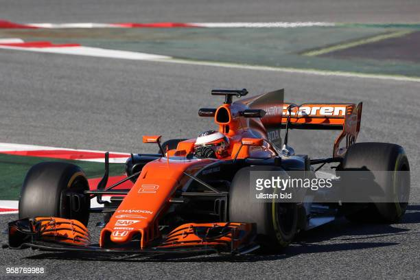 Fernando Alonso, McLaren Honda, formula 1 GP, Test Barcelona, Spanien,