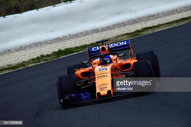 Fernando Alonso McLaren Renault formula 1 GP Test Barcelona Spanien