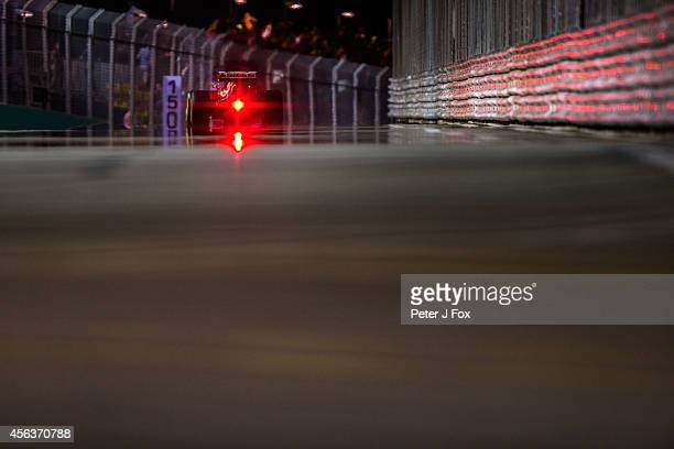 Fernando Alonso of Ferrari and Spain during the Singapore F1 Grand Prix at Marina Bay Street Circuit on September 21 2014 in Singapore Singapore