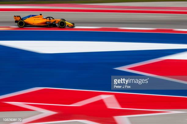 Fernando Alonso of McLaren and Spain during qualifying for the United States Formula One Grand Prix at Circuit of The Americas on October 20 2018 in...