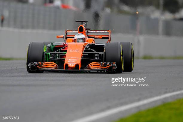 Fernando Alonso of McLaren Honda team, driving his car during the Formula One preseason tests, on May 8, 2017 in Barcelona, Spain.
