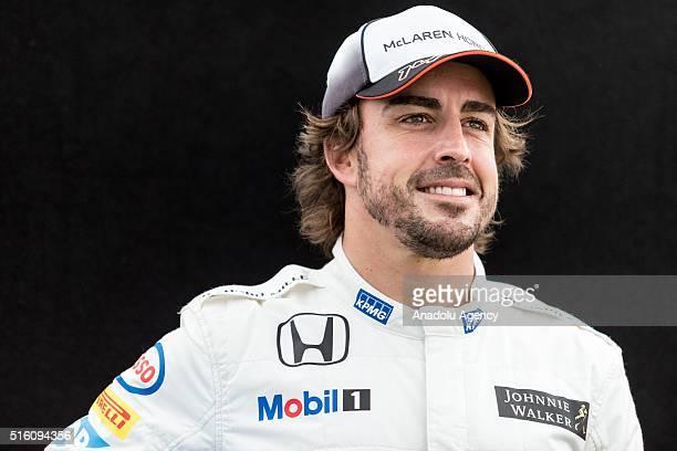 Fernando Alonso of McLarenHonda during driver portrait session before the 2016 formula 1 Rolex Australian Grand Prix Albert Park circuit in Melbourne...