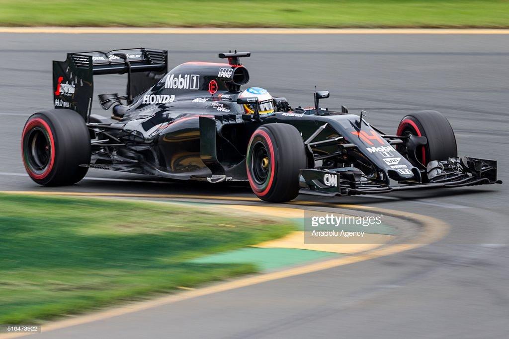 Fernando Alonso of McLaren-Honda during the qualifying of