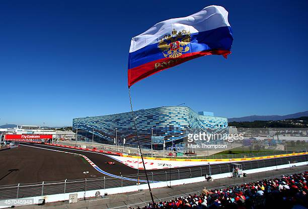 Fernando Alonso of Spain and Ferrari drives during final practice ahead of the Russian Formula One Grand Prix at Sochi Autodrom on October 11, 2014...