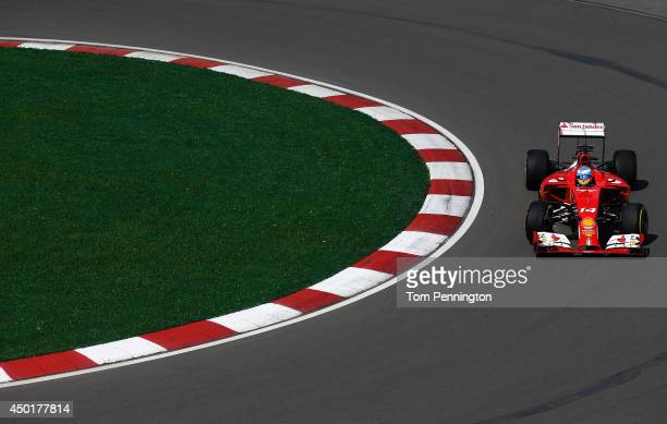 Fernando Alonso of Spain and Ferrari drives during practice ahead of the Canadian Formula One Grand Prix at Circuit Gilles Villeneuve on June 6 2014...
