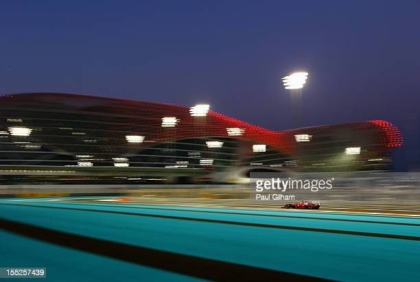 Fernando Alonso of Spain and Ferrari drives during practice for the Abu Dhabi Formula One Grand Prix at the Yas Marina Circuit on November 2, 2012 in...
