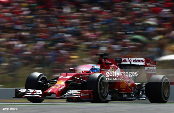 Fernando Alonso of Spain and Ferrari drives during qualifying ahead of the Spanish F1 Grand Prix at Circuit de Catalunya on May 10 2014 in Montmelo...