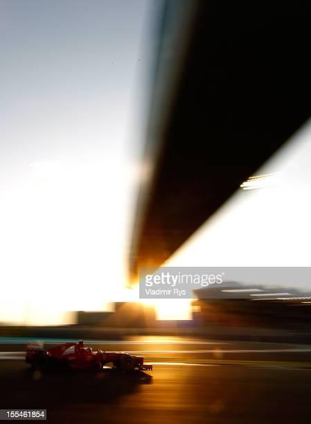 Fernando Alonso of Spain and Ferrari drives during the Abu Dhabi Formula One Grand Prix at the Yas Marina Circuit on November 4, 2012 in Abu Dhabi,...