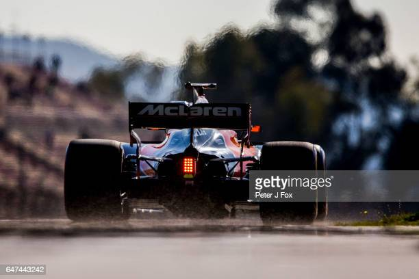 Fernando Alonso of Spain and McLaren during day three of Formula One winter testing at Circuit de Catalunya on March 1 2017 in Montmelo Spain
