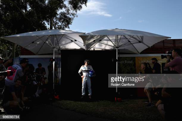 Fernando Alonso of Spain and McLaren F1 poses for a photo during previews ahead of the Australian Formula One Grand Prix at Albert Park on March 22...