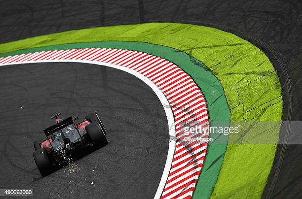Fernando Alonso of Spain and McLaren Honda drives during final practice for the Formula One Grand Prix of Japan at Suzuka Circuit on September 26,...