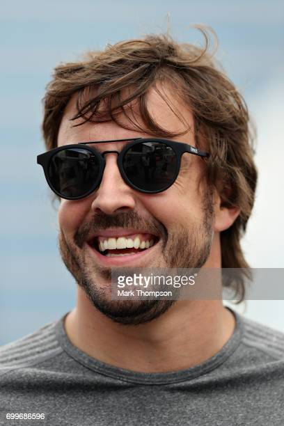 Fernando Alonso of Spain and McLaren Honda during previews ahead of the European Formula One Grand Prix at Baku City Circuit on June 22, 2017 in...