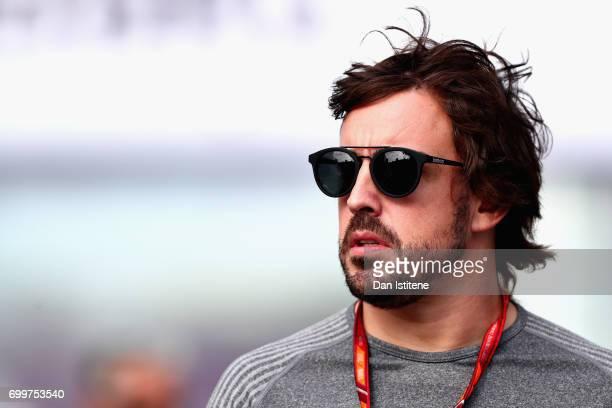 Fernando Alonso of Spain and McLaren Honda during previews ahead of the European Formula One Grand Prix at Baku City Circuit on June 22 2017 in Baku...