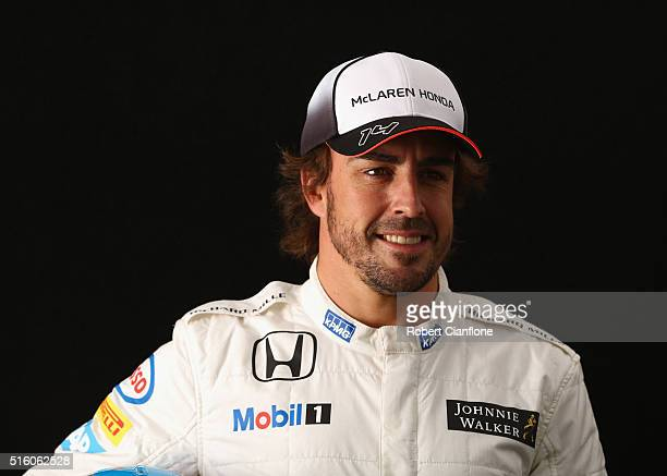 Fernando Alonso of Spain and McLaren Honda during previews to the Australian Formula One Grand Prix at Albert Park on March 17 2016 in Melbourne...