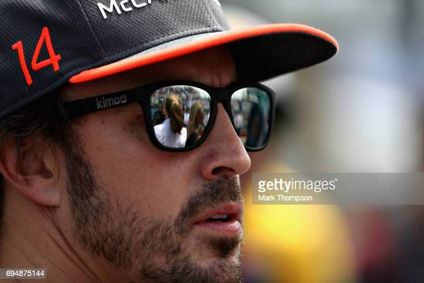 Fernando Alonso of Spain and McLaren Honda during the Canadian Formula One Grand Prix at Circuit Gilles Villeneuve on June 11 2017 in Montreal Canada